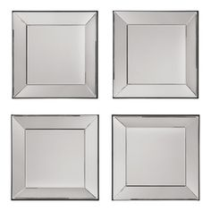 Photo Gallery In Website Office Star Products Decorative Square Wall Mirrors Set of Decorative Silver Square Wall Mirror Piece Set