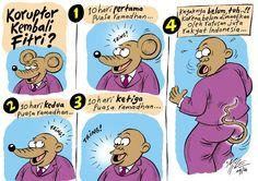 Mice Cartoon, Rakyat Merdeka - September 2010: Koruptor Kembali Fitri