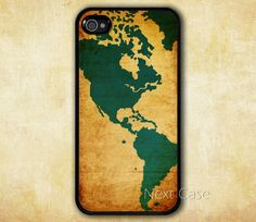Vintage world map iPhone 4 case iphone 4s case map by NextCase