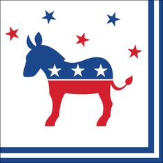 Democratic Party   Napkins   Donkey   2016 Election   Election 2016   Vote…