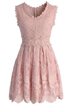 Ocean Princess Embroidery Dress in Pink - ChicWish: Retro, Indie and Unique Fashion