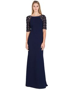 Badgley Mischka EG1431A Raglan Beaded Sleeve Evening Gown, now available at the official website. Free shipping, exchanges, and returns.