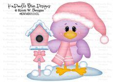 Winter snow chick