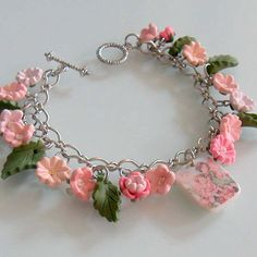 Flower Fairy Bracelet - Polymer Clay.