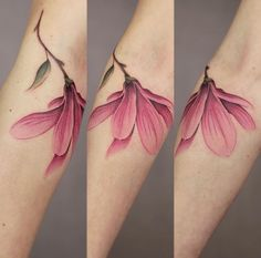 Cindy Vanschie flower tattoo