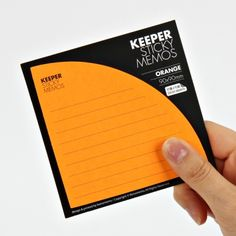 Brighten up your life with the unique Orange Corner Pocket Sticky Note! Unlike regular sticky notes, these tuck nicely in the corner of the page, so you can use it as a pocket and for notes!
