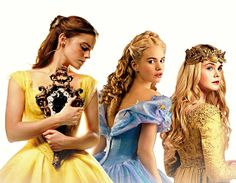 Omg LOVE this!! Cinderella (Lily James) is so beautiful! And so is Emma Watson! Im so excited shes playing Belle!!! ❤❤❤