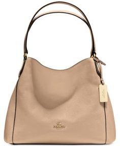 COACH Edie Shoulder Bag 31 in Refined Pebble Leather | macys.com