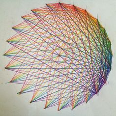 24-division of a circle. Waldorf 6th grade. Geometric drawing.