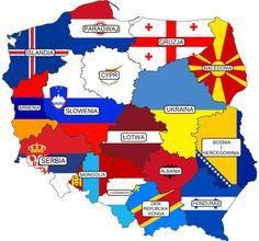 Kolekcja intrygujących map XXI - liczba przestępstw w Polsce Poland Map, Alternate Worlds, Country Art, Mongolia, Armenia, Honduras, Politics, Countries, Maps