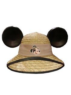 Disney Hat - Safari Mickey Mouse Wicker Ear Hat
