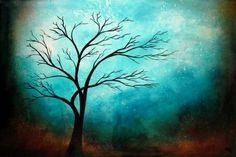 Easy Acrylic Painting Ideas Trees | Easy Tree Paintings Simple tree paintingbreath