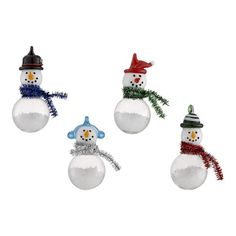 I also love snowmen ornaments.  But to be honest, these aren't my fave...
