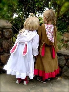the sweetest  bunny coats from  In the wishing wooda-faerietale-of-inspiration: costume