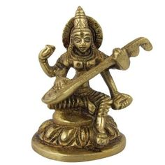 Amazon.com: Metal Sculpture Hindu Goddess Saraswati: Home & Kitchen
