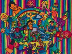 """Philippines (Bhea Vacio, age 11)  This reminds me of that song """" We are the world..We are the children"""". Love the colors!"""