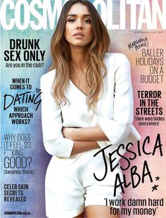 Jessica Alba on the July 2017 Cover of Cosmopolitan Australia Magazine