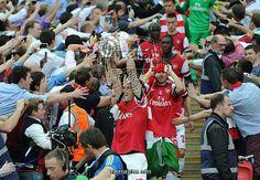 Arsenal v Hull City - FA Cup Final as a Photographic Print, Photo T-Shirt, Photo Jigsaw Puzzle, Framed Print, Photo Keyring, Photo Greeting Card, Mouse Mat, Fridge Magnet, Gift Item, Photo Mug, Canvas Print from Arsenal FC, Arsenal v Hull City - FA Cup Final 2014, Season 2013-14
