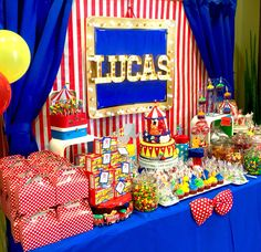 Circus theme table by Glam Candy Buffets!