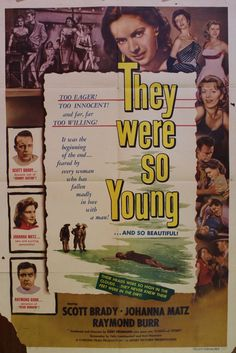 "Renew Gallery | ""They Were So Young"" Movie Poster & Set of Lobby Cards"
