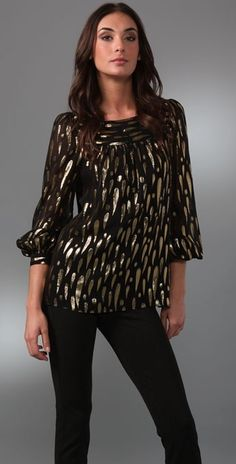 Milly - Black Amia Boat Neck Top Boat Neck Tops, Blouse, Long Sleeve, Sleeves, Black, Women, Fashion, Moda, Black People