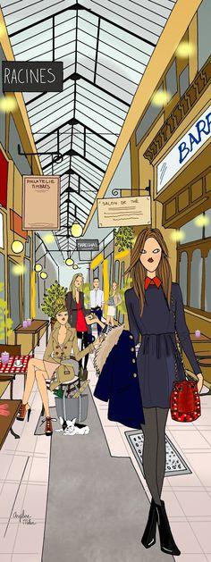 Angéline Mélin: Passage des panoramas - Paris