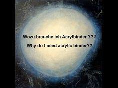 Acrylbinder - wie verwende ich ihn? / Acrylic binder - how to use - YouTube