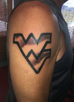 West Virginia tattoo - flying WV tattoo West Virginia Tattoo, Fish Tattoos, Tattoos For Guys, Tatting, Southern, Life, Tattoos For Men, Bobbin Lace, Needle Tatting