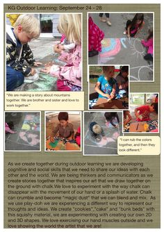 Outdoor learning documentation