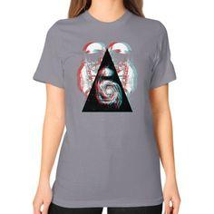 3D Space Unisex T-Shirt (on woman)