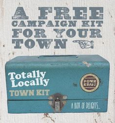Link to the changes happening at Totally Locally a campaign that is helping small towns in the UK become self sufficient by supporting each other in business. Common sense really. Get the community engaged in speding their money in local shops and keep the money local.