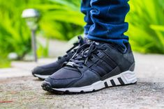 7df6ca60cdcd Adidas EQT Support RF Core Black Milled Leather On Feet Sneaker Review