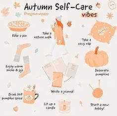 Herbst Bucket List, Vie Motivation, Autumn Aesthetic, Self Care Activities, Happy Fall Y'all, Autumn Activities, Self Improvement Tips, Self Care Routine, Autumn Inspiration