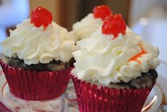 Homemade By Holman: Chocolate Cherry Coke Cupcakes