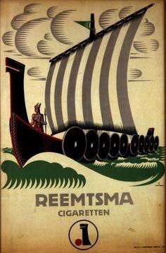 Eugen Schmidt, Wikingermotiv für Reemtsma, 1921