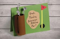 This cute and crafty card is perfect for the Dad who is master of the golf course!