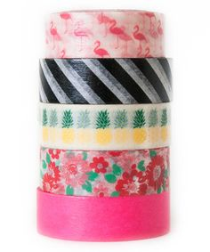 Look what I found on #zulily! Tropical Getaway Washi Tape - Set of Five #zulilyfinds