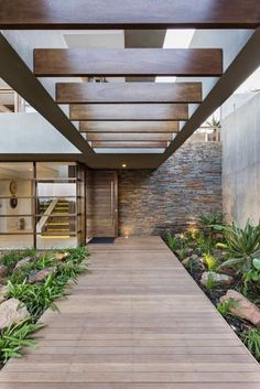 of 6 Leadwood Loop / Metropole Architects - 7 6 Leadwood Loop,© Grant Leadwood Loop,© Grant Pitcher Design Exterior, Interior And Exterior, Wall Exterior, Room Interior, Interior Garden, Exterior Doors, Future House, House Entrance, Entrance Ideas