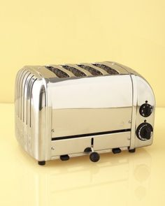 """Dualit ""Vario"" Four-Slot Toaster""  ""It looks sharp and works like a dream."" (surlatable.com)"
