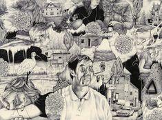 Los dibujos de Pat Perry muestran los recuerdos como objetos tangibles y complejos paisajes