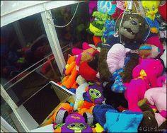 Mascot inside claw machine prank