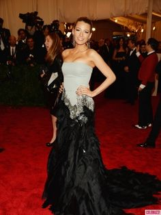 """Blake Lively attends the Costume Institute Gala for the """"PUNK: Chaos to Couture"""" exhibition at the Metropolitan Museum of Art on May 6, 2013 in New York City."""