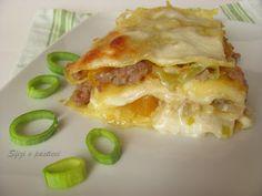 Lasagne con zucca, porri e salsiccia - myTaste.it