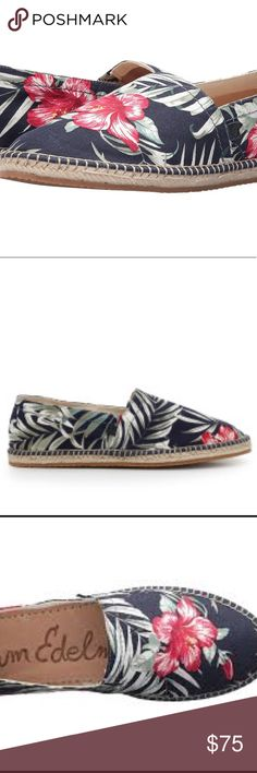 Sam Edelman Aaron Floral printed espadrilles Sam Edelman Floral leaf Printed Aaron espadrilles. Slip on style. Closed toe. New without box. Multiple sizes available. Reasonable offers always accepted. Sam Edelman Shoes Espadrilles