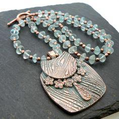 Handmade Copper Handbag Pendant Necklace by PreciousSparkleGifts, £45.00
