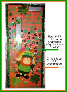 March Classroom door or bulletin board. Saint Patrick's Day