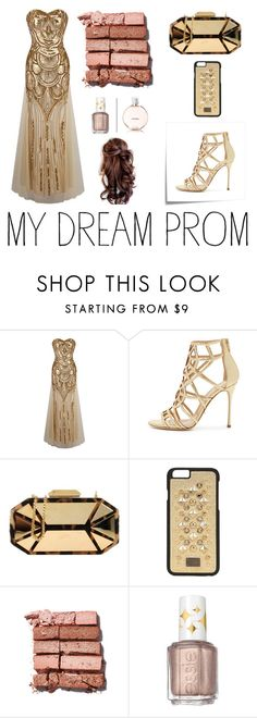 """""""Prom Do-Over"""" by sonishus ❤ liked on Polyvore featuring Post-It, Sergio Rossi, Giuseppe Zanotti, Dolce&Gabbana, Bobbi Brown Cosmetics, Essie and Chanel"""