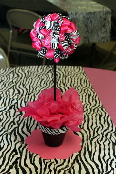 Center pieces for Sophia's  birthday party