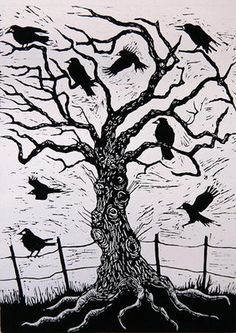 Fine Art Print of Rook Tree, 1999 by Nat Morley