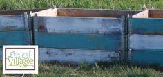 Teal & White Garden Boxes